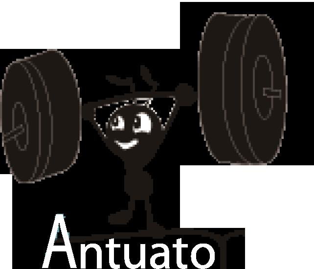 Antuator Logo White Text